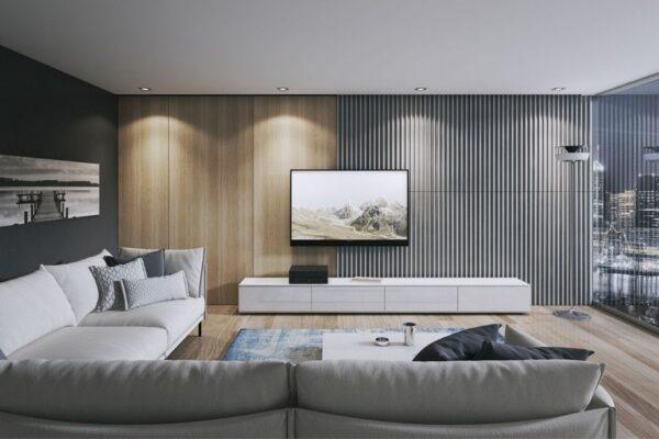 beton architektoniczny i drewno