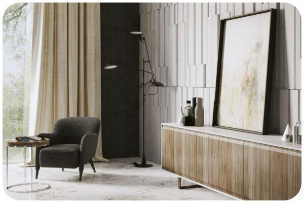 beton architektoniczny w living room