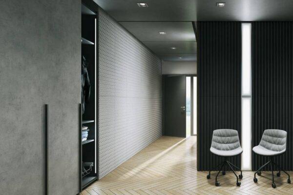 architektoniczny jako element dekoracyjny sciany
