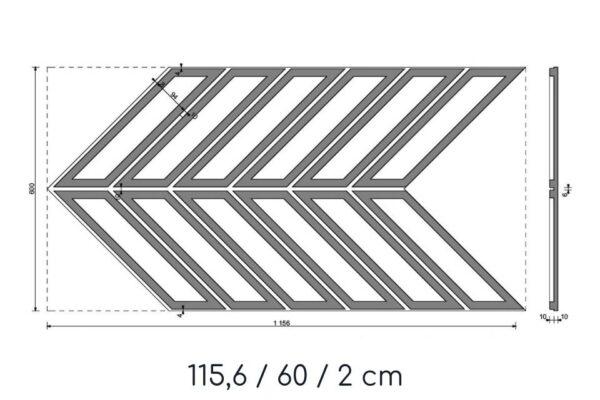 beton w kształcie jodełki wymiary dokładne